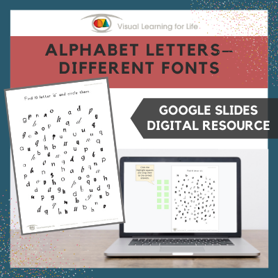 Alphabet Letters–Different Fonts (Google Slides)