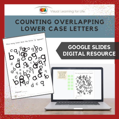 Counting Overlapping Lower Case Letters (Google Slides)