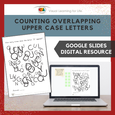 Counting Overlapping Upper Case Letters (Google Slides)