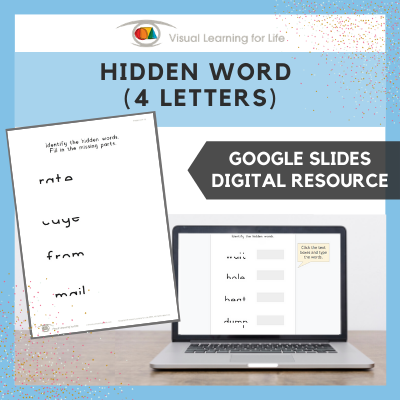 Hidden Word (4 Letters) (Google Slides)