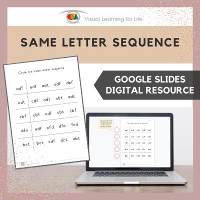 Same Letter Sequence (Google Slides)