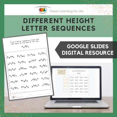 Different Height Letter Sequences (Google Slides)