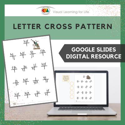 Letter Cross Pattern (Google Slides)