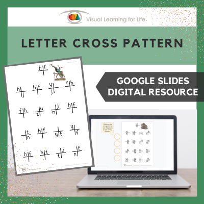Letter Cross Pattern (Google Slides)