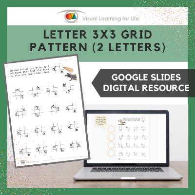 Letter 3x3 Grid Pattern (2 Letters) (Google Slides)