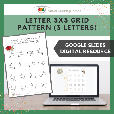 Letter 3x3 Grid Pattern (3 Letters) (Google Slides)