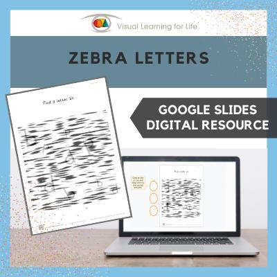 Zebra Letters (Google Slides)