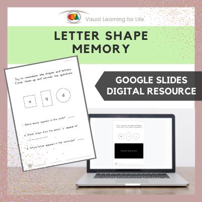 Letter Shape Memory (Google Slides)