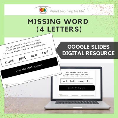 Missing Word (4 Letters) (Google Slides)