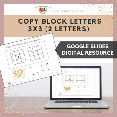 Copy Block Letters 3x3 Grid (2 Letters) (Google Slides)