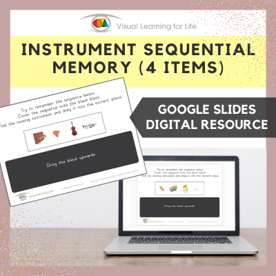 Instrument Sequential Memory - 4 Items (Google Slides)