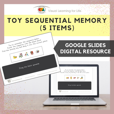 Toy Sequential Memory - 5 items (Google Slides)