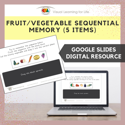 Fruit/Vegetable Sequential Memory - 5 items (Google Slides)