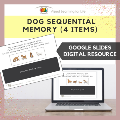 Dog Sequential Memory - 4 Items (Google Slides)