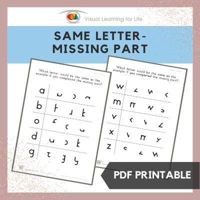Same Letter – Missing Part