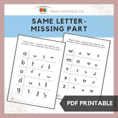 Same Letter – Missing Part