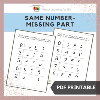 Same Number – Missing Part