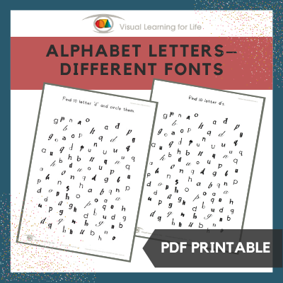 Alphabet Letters–Different Fonts