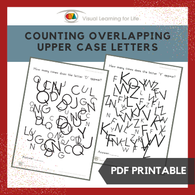Counting Overlapping Upper Case Letters