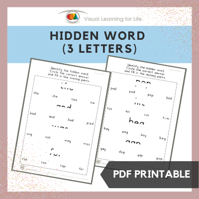 Hidden Word (3 Letters)