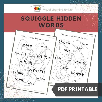 Squiggle Hidden Words