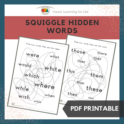 Squiggle Hidden Words