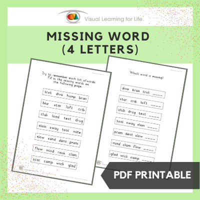 Missing Word (4 Letters)