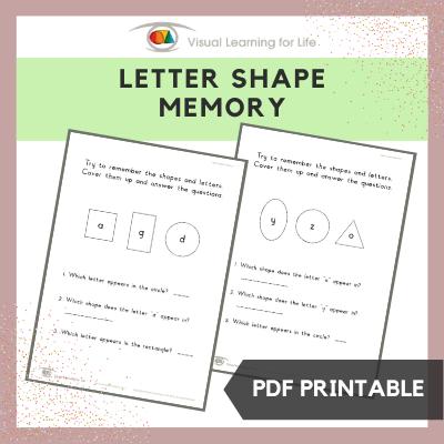 Letter Shape Memory