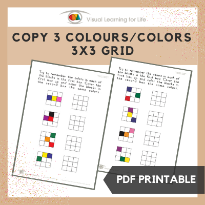 Copy 3 Colours/Colors 3x3 Grid
