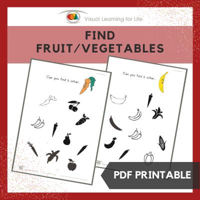 Find Fruit-Vegetables