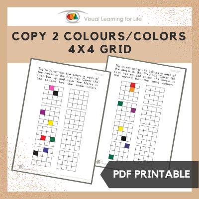 Copy 2 Colours/Colors 4x4 Grid