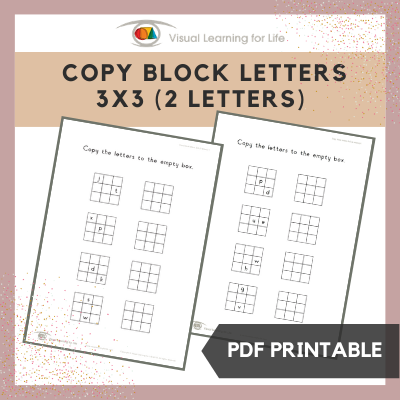 Copy Block Letters 3x3 Grid (2 Letters)