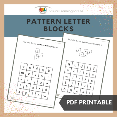 Pattern Letter Blocks