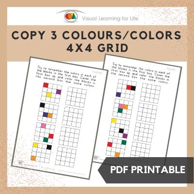 Copy 3 Colours/Colors 4x4 Grid