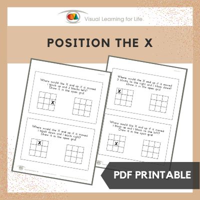 Position the X