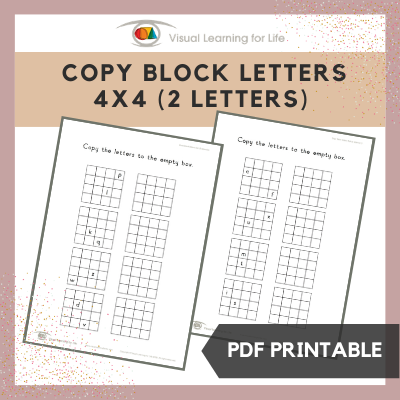 Copy Block Letters 4x4 Grid (2 Letters)