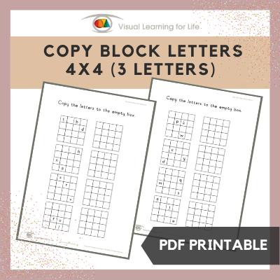 Copy Block Letters 4x4 Grid (3 Letters)