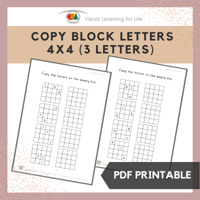 Copy Block Letters 4x4 Grid (3 Letters)