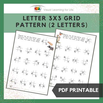 Letter 3x3 Grid Pattern (2 Letters)