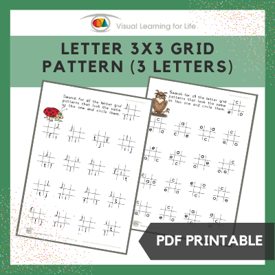 Letter 3x3 Grid Pattern (3 Letters)