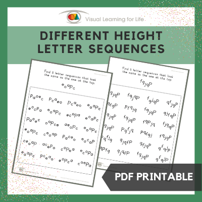 Different Height Letter Sequences