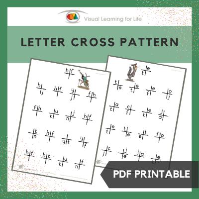Letter Cross Pattern