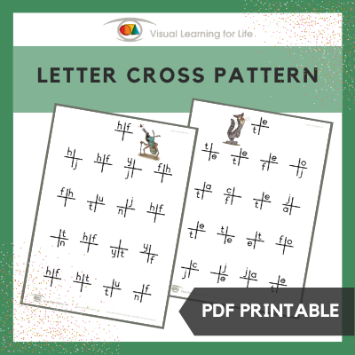 Letter Cross Pattern