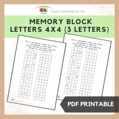 Memory Block Letters 4x4 (3 Letters)