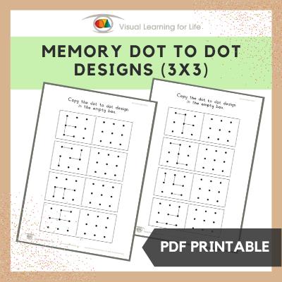Memory Dot Designs (3x3)