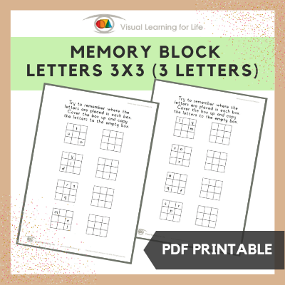 Memory Block Letters 3x3 (3 Letters)