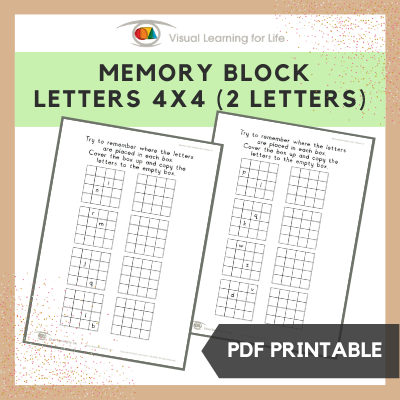 Memory Block Letters 4x4 (2 Letters)