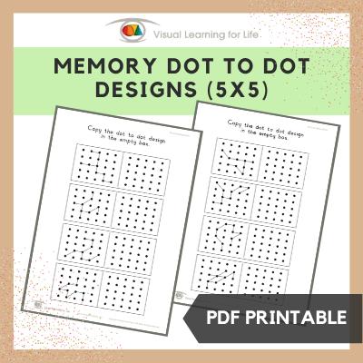 Memory Dot Designs (5x5)