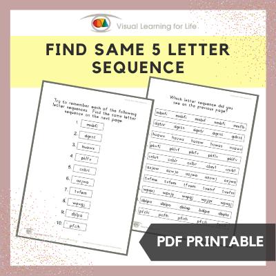 Find Same 5 Letter Sequence