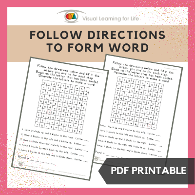 Follow Directions to Form Word